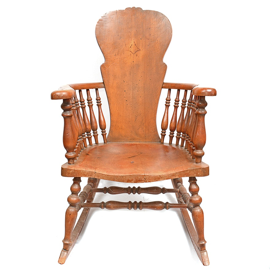 Astonishing Antique Cherry Wood Rocking Chair Gmtry Best Dining Table And Chair Ideas Images Gmtryco