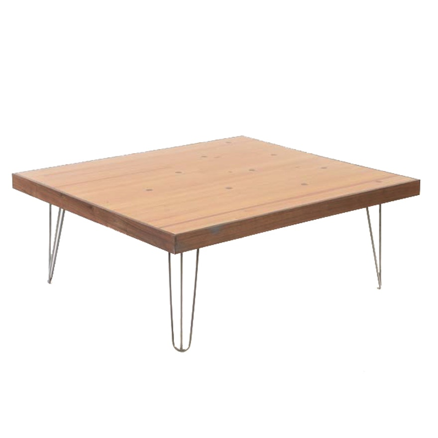 Bowling Lane Coffee Table On Hairpin Legs : EBTH