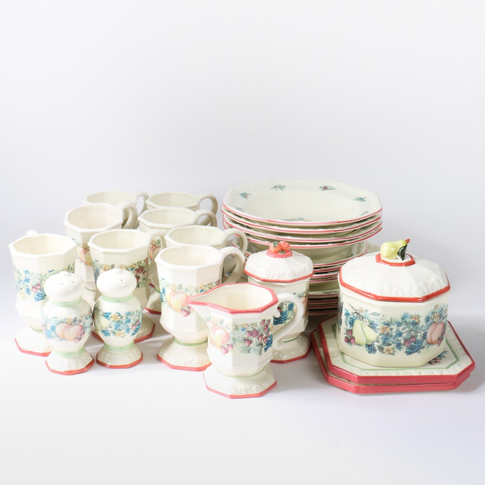 Collection of Avon \ Sweet Country Harvest\  Tableware ... & Collection of Avon \
