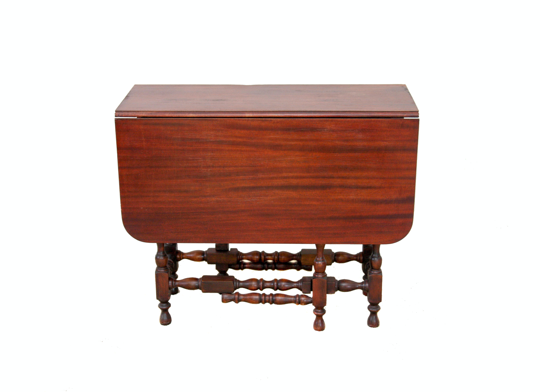Vintage Mahogany Drop Leaf Gate Leg Table ...