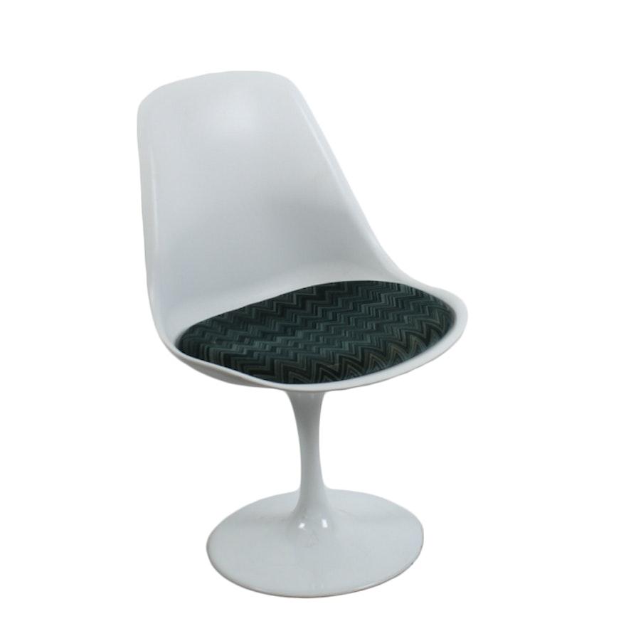 Mid Century Modern Tulip Chair With Original Missoni Cushion