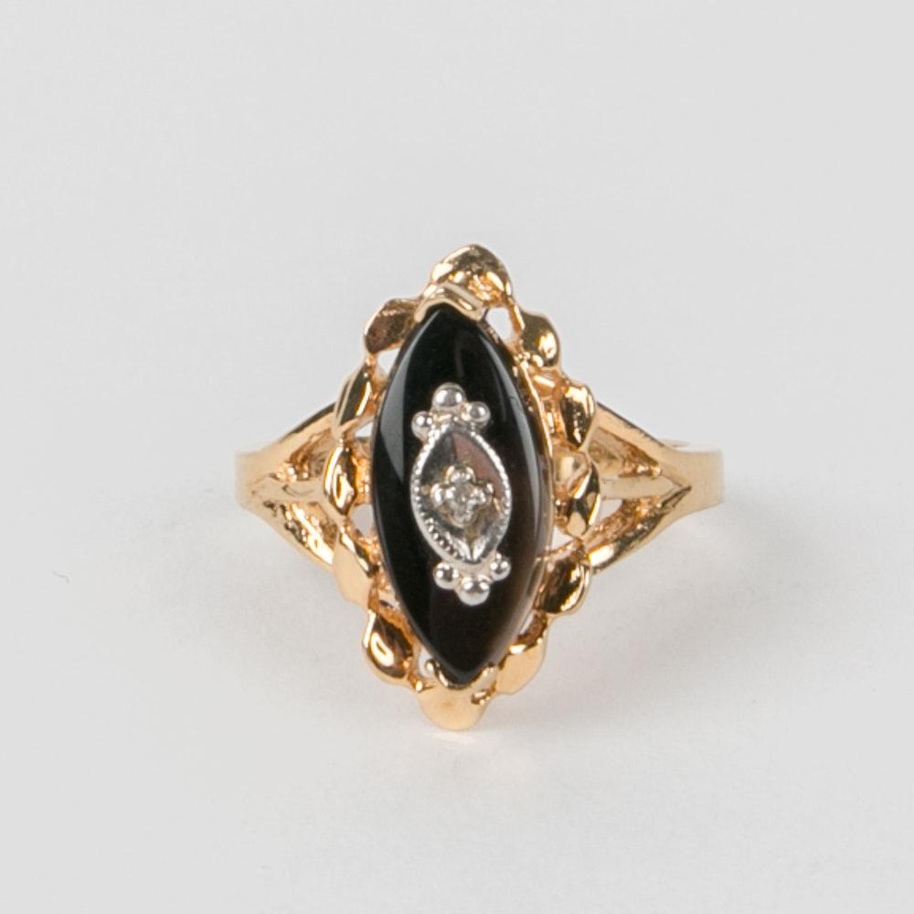 sterling silver onyx ring ebth