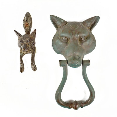 Most popular estate auctions at everything but the house ebth - Fox head door knocker ...