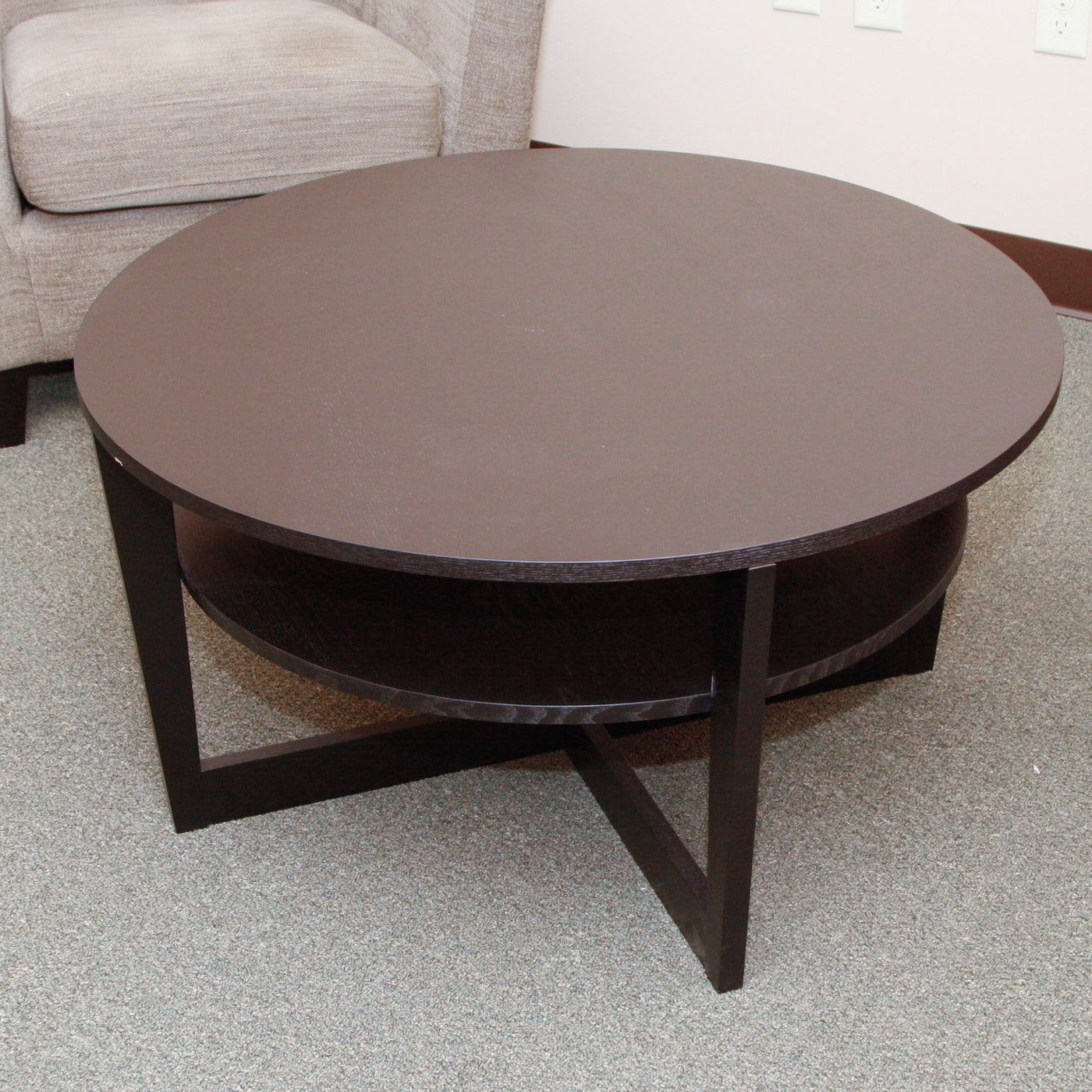 IKEA Vejmon Round Coffee Table with Shelf | EBTH