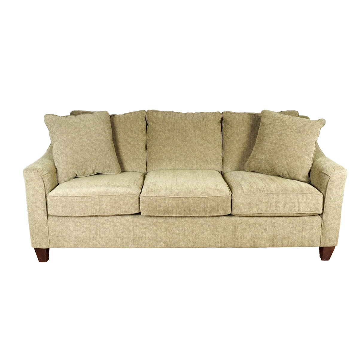 Sage Green Hickorycraft Upholstered Sofa : EBTH