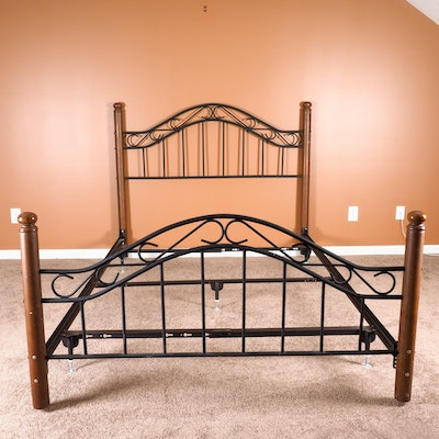 Mahogany Four Poster Queen Bed Frame Ebth