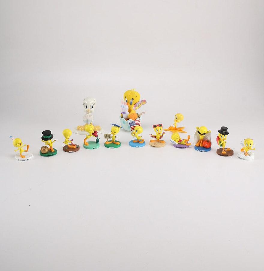 2000 Monthly Goebel And Lenox Tweety Bird Figurine Collection Ebth