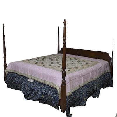 Ethan allen king sleigh bed ebth - Ethan allen metal bed ...