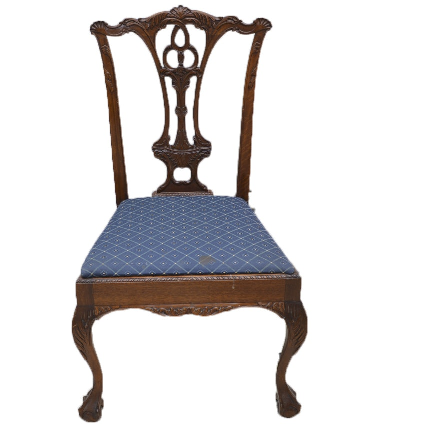 Set Of Chippendale Style Philippine Mahogany Dining Chairs Ebth