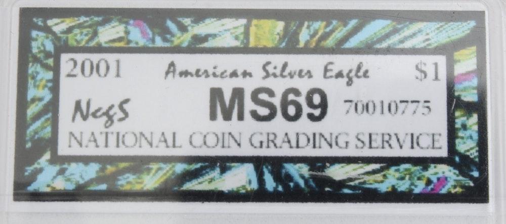 2001 American Silver Eagle Coin Ebth