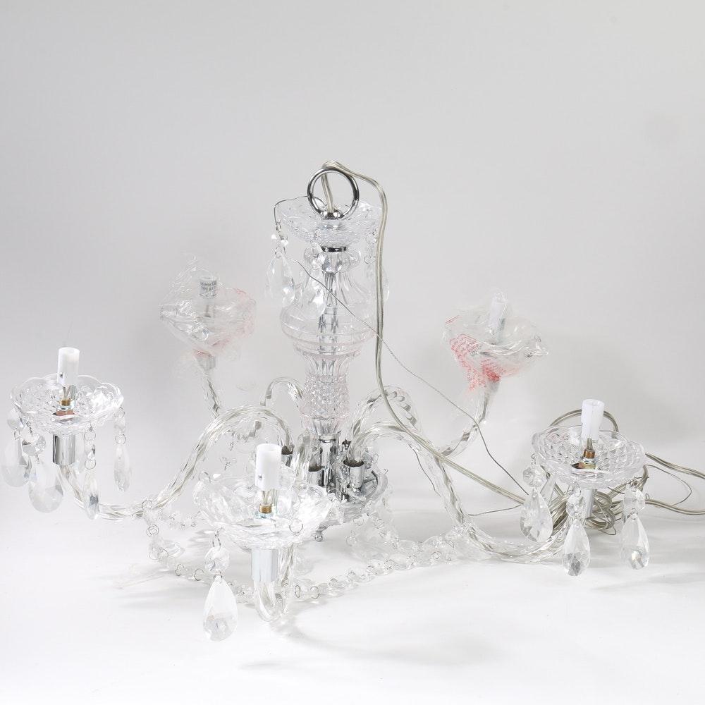Set Of Three Pottery Barn Glass Chandelier Bobeches Ebth