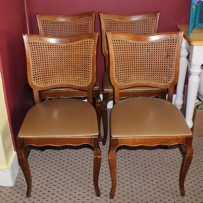 antique cane seat chairs ebth. Black Bedroom Furniture Sets. Home Design Ideas