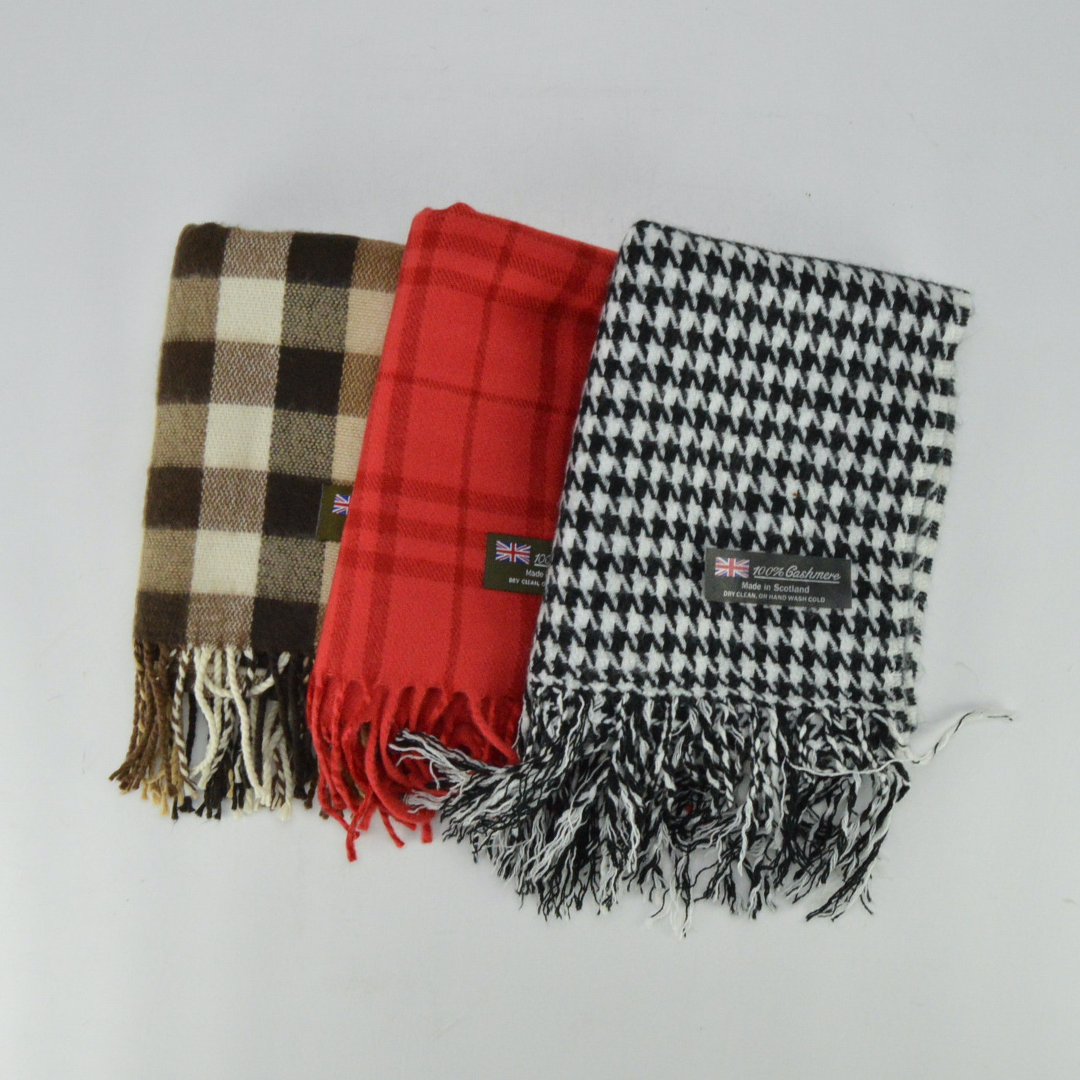 collection of scarves made in scotland ebth
