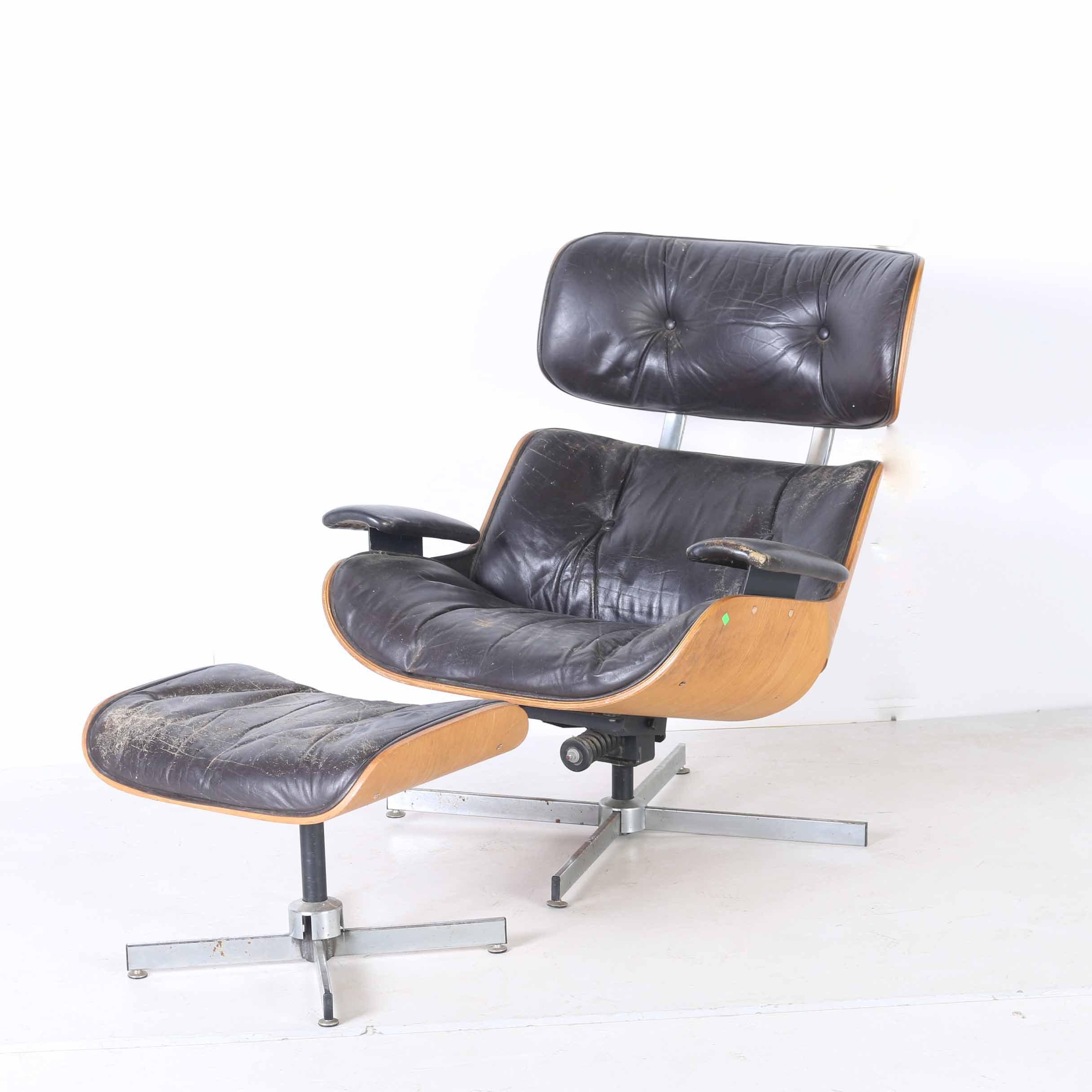 Mid Century Modern Lounge Chair with Ottoman EBTH