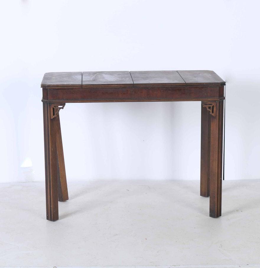 lane wooden backgammon table ebth. Black Bedroom Furniture Sets. Home Design Ideas