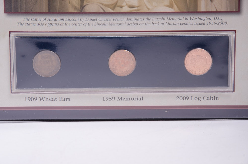 Pcs Abraham Lincoln Commemorative Coin And Stamp