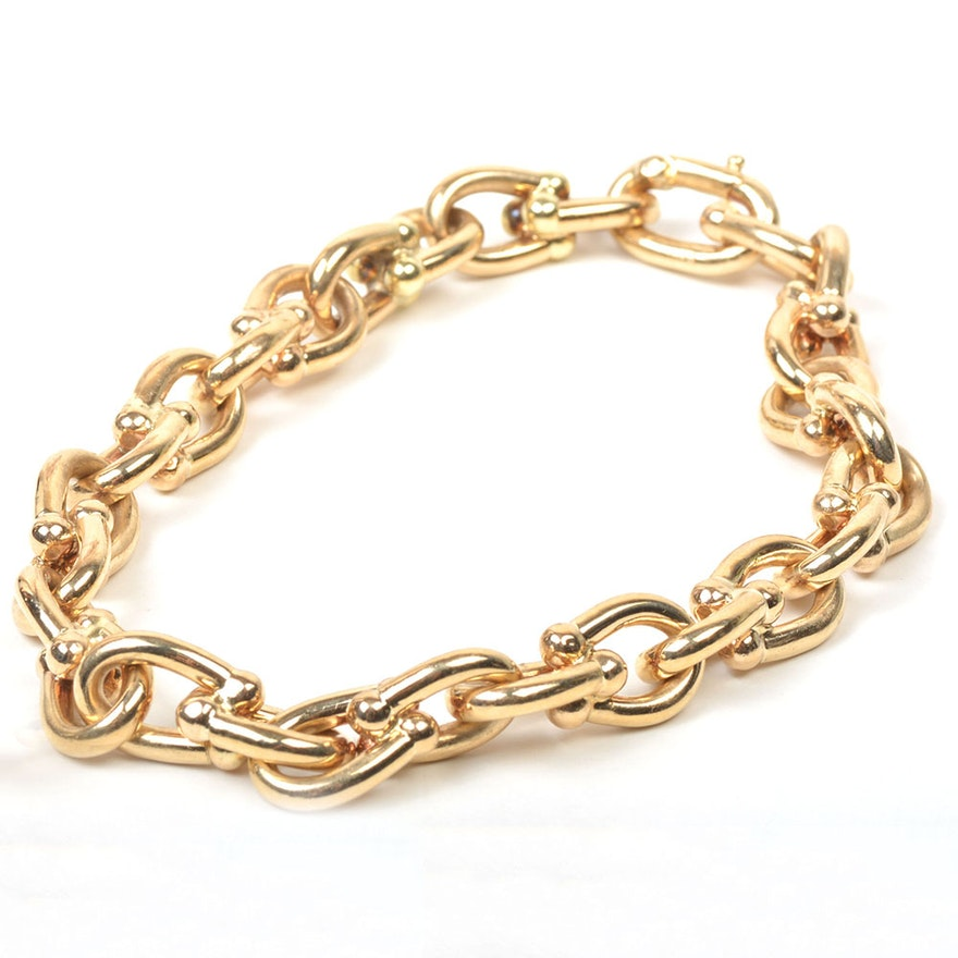 Cartier 14k Yellow Gold Chain Link Bracelet