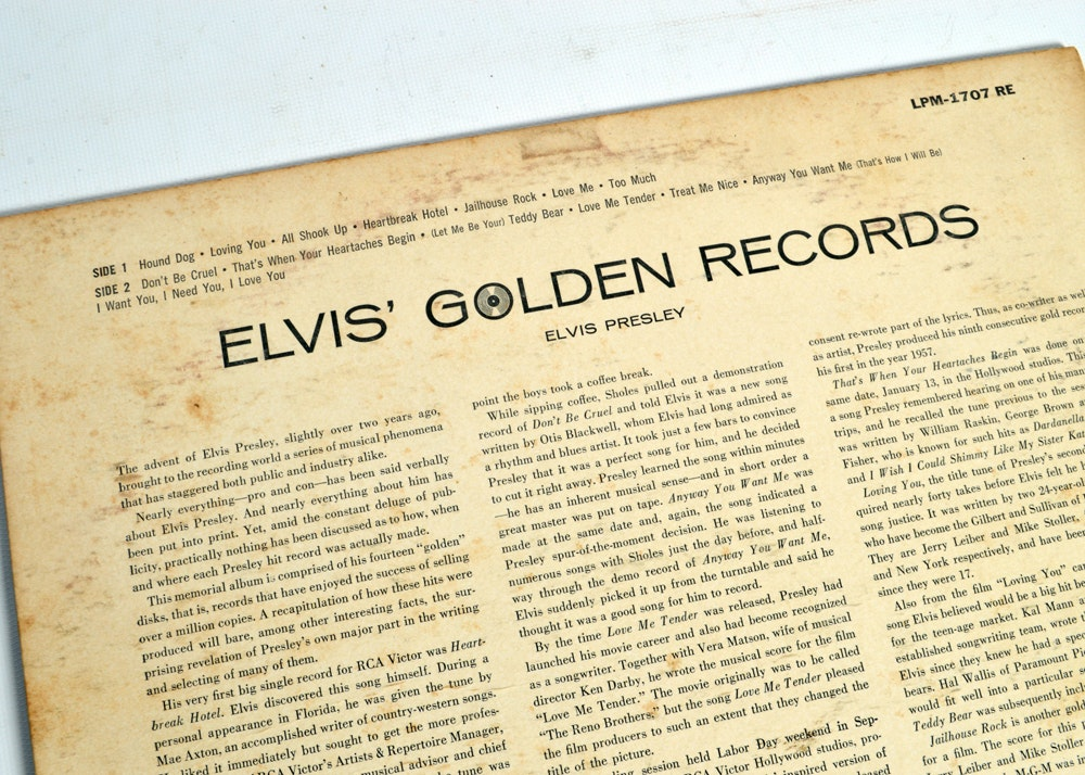 Elvis Presley 50th Anniversary Lp Collection And Quot Golden