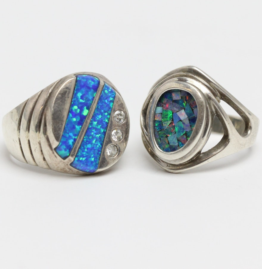 Two Stone Fashion Statement Rings