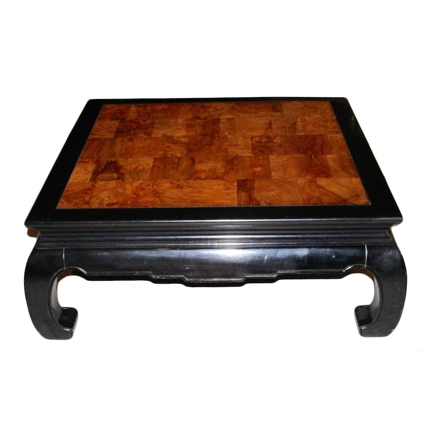 Ethan Allen Late 20th Century Asian Inspired Coffee Table Ebth