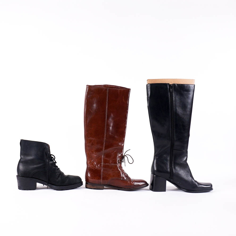 s black and brown leather boots ebth