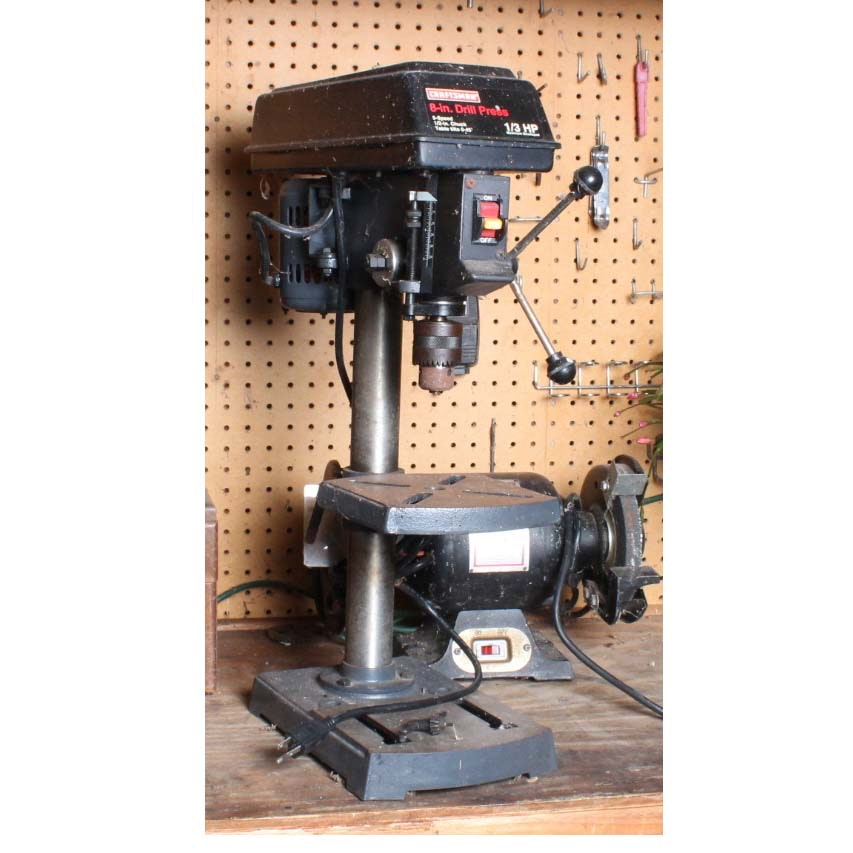 Sears Craftsman Drill Press And Duracraft Bench Grinder Ebth