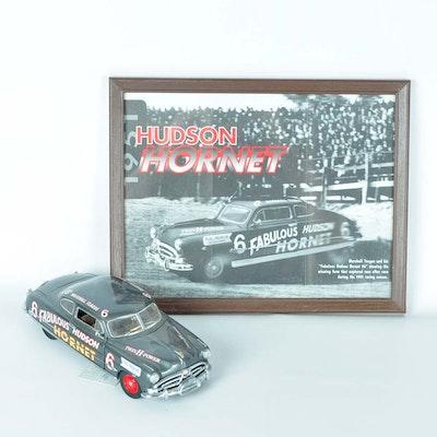 Franklin Mint Die-Cast 1951 Hudson Hornet and Photographic Print