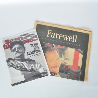 """Dale Earnhardt Sr. """"Sports Illustrated"""" and Newspaper"""