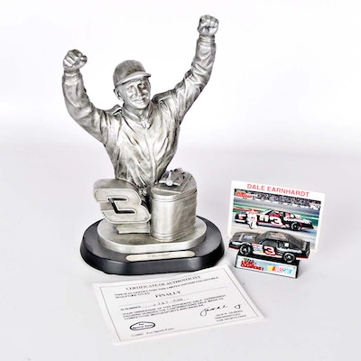 """Limited Edition Dale Earnhardt Sr. """"Finally"""" Pewter Bust"""