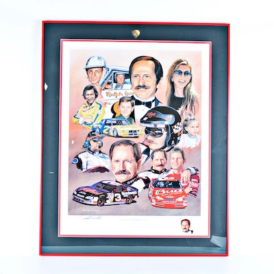 """Signed George Wright Offset Lithograph """"The Earnhardt Legacy"""""""