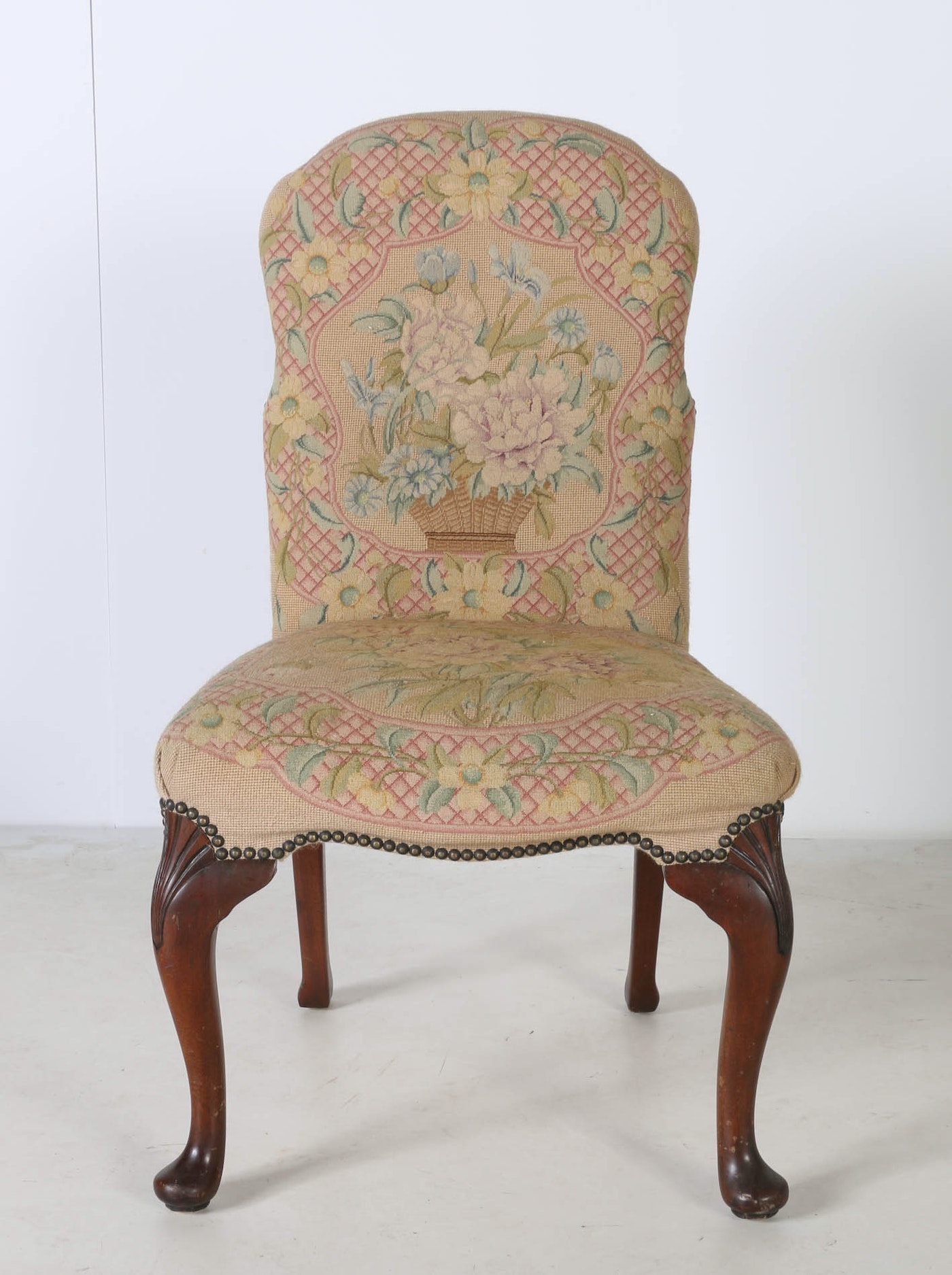 Queen anne style upholstered chairs by maitland smith ltd for Styles of upholstered chairs