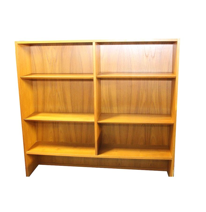 mid century modern teak shelving unit ebth. Black Bedroom Furniture Sets. Home Design Ideas