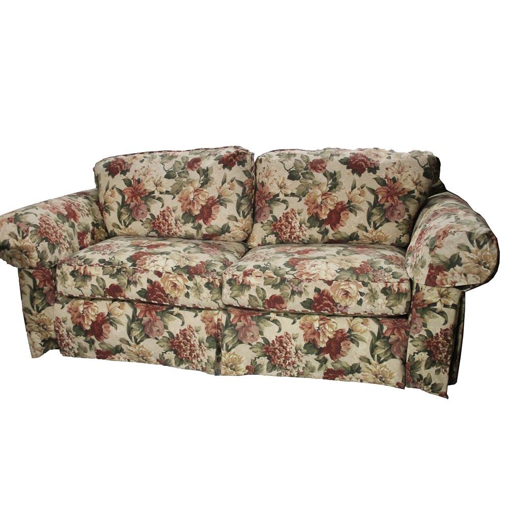 Broyhill Plaid Upholstered Sofa Ebth