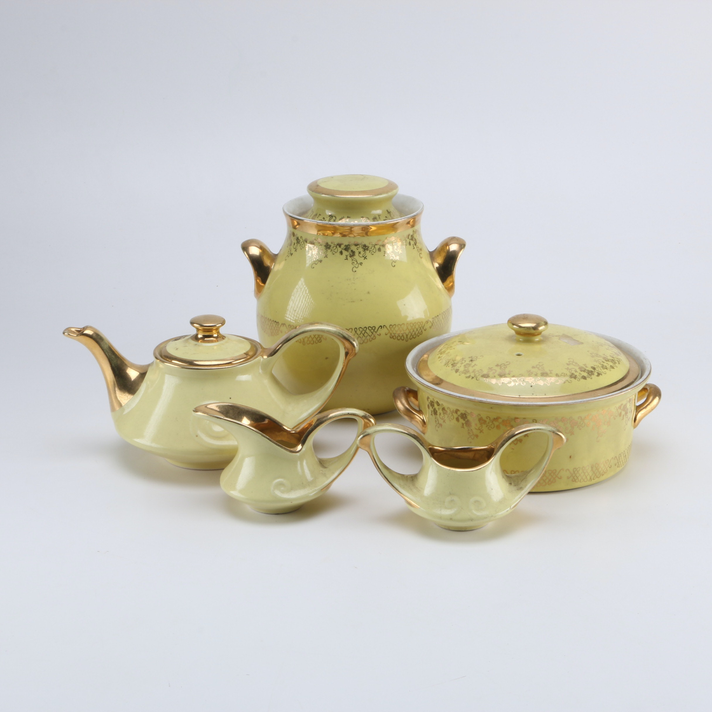 Selection Of Chinese Lusterware And Hall Kitchenware ...