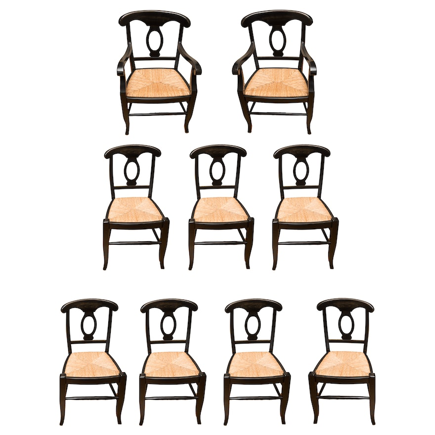Pottery Barn Quot Napoleon 174 Quot Rush Seat Dining Chair Set Of
