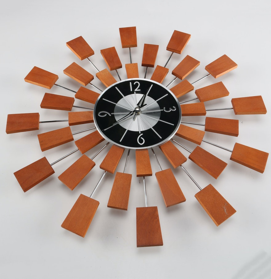 George nelson wall clock ebth for Nelson wall clock