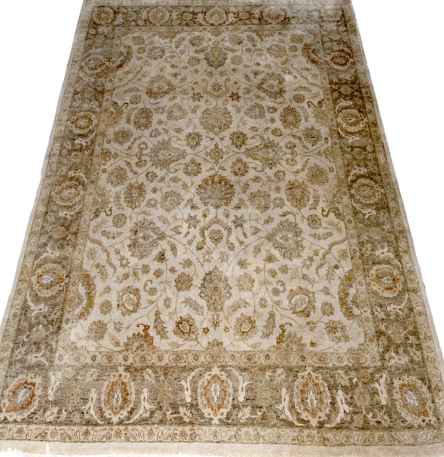 Area Rugs From India: Handmade Indian Wool Area Rug : EBTH