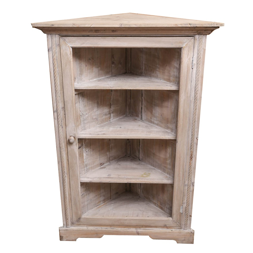 Distress Cabinets: Distressed Corner Cabinet : EBTH