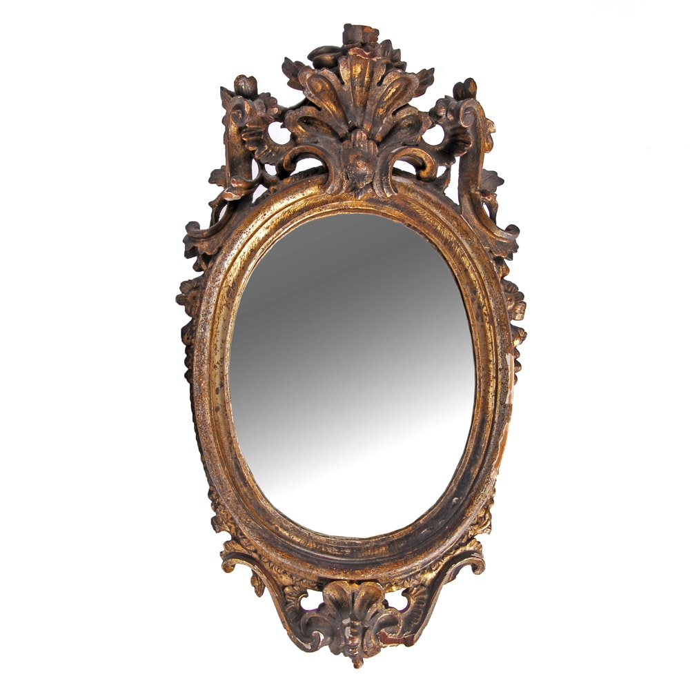 Antique oval wall mirror ebth for 4 x 5 wall mirror