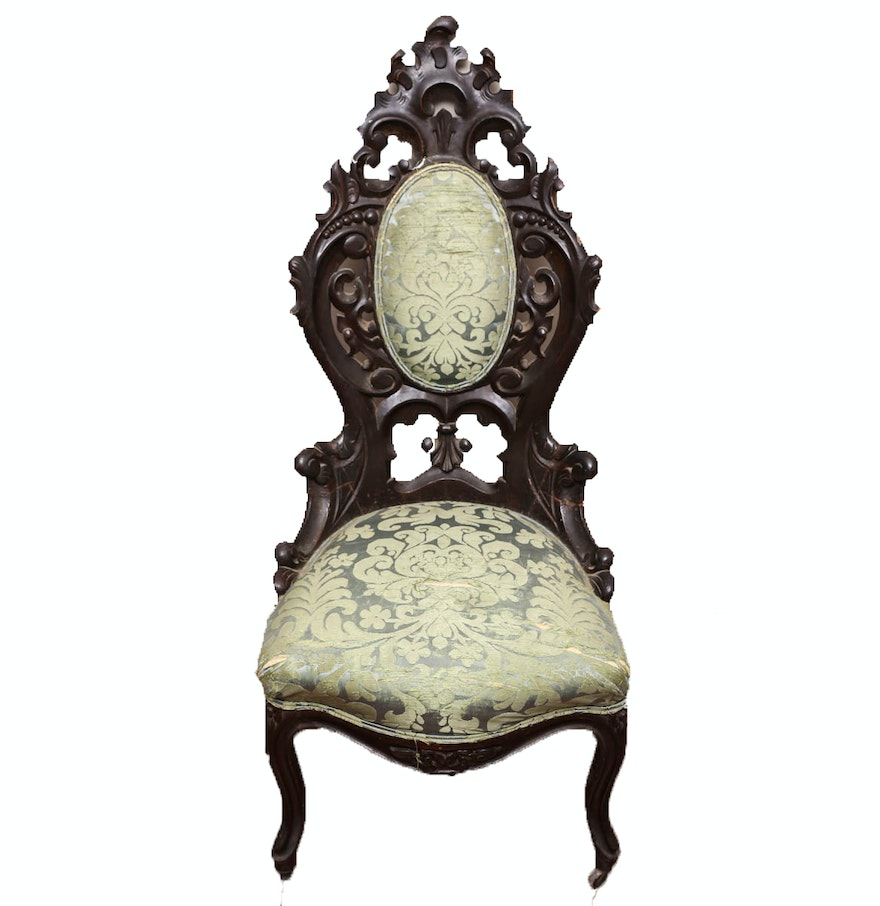 Ornate Victorian Side Chair Ebth