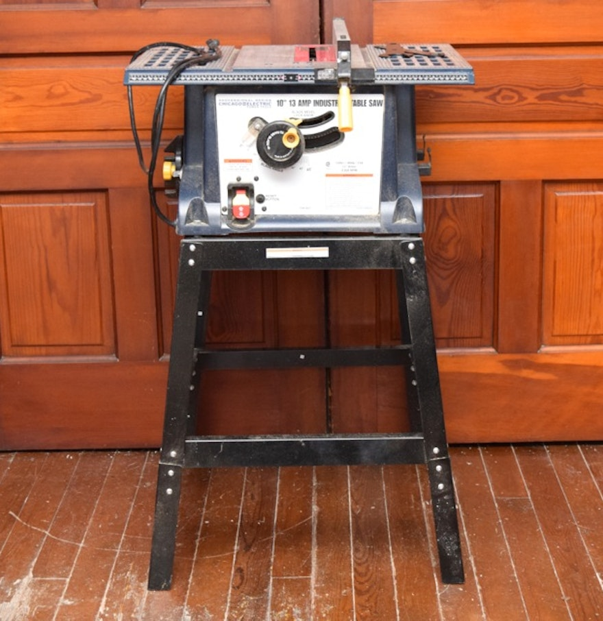 Chicago Electric 10 13 Amp Industrial Table Saw Ebth
