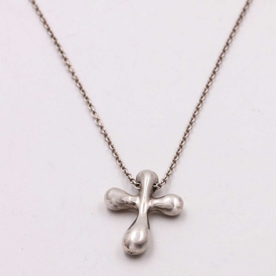 4177129f2 Tiffany & Co. Sterling Silver Cross Pendant Necklace by Elsa Peretti® ...