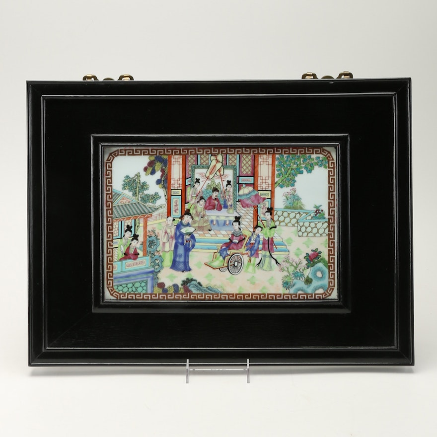 Hand Painted Chinese Porcelain Tile