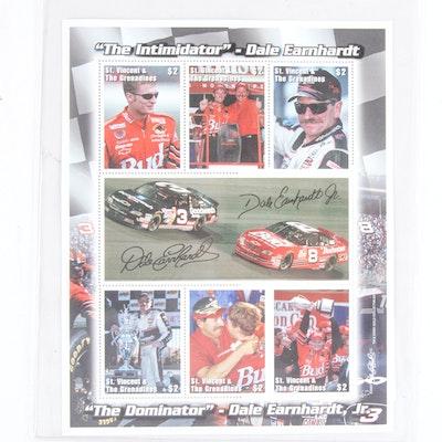 Dale Earnhardt Sr. Postage Stamp Sheet
