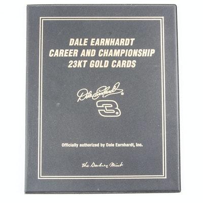Danbury Mint 23K Plated Dale Earnhardt Sr. Cards