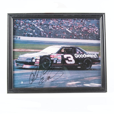 Dale Earnhardt  Sr. Signed #3 Goodwrench Car Photopgraphic Print