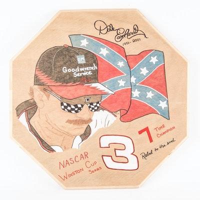 Handcrafted Oak Dale Earnhardt Sr. Plaque