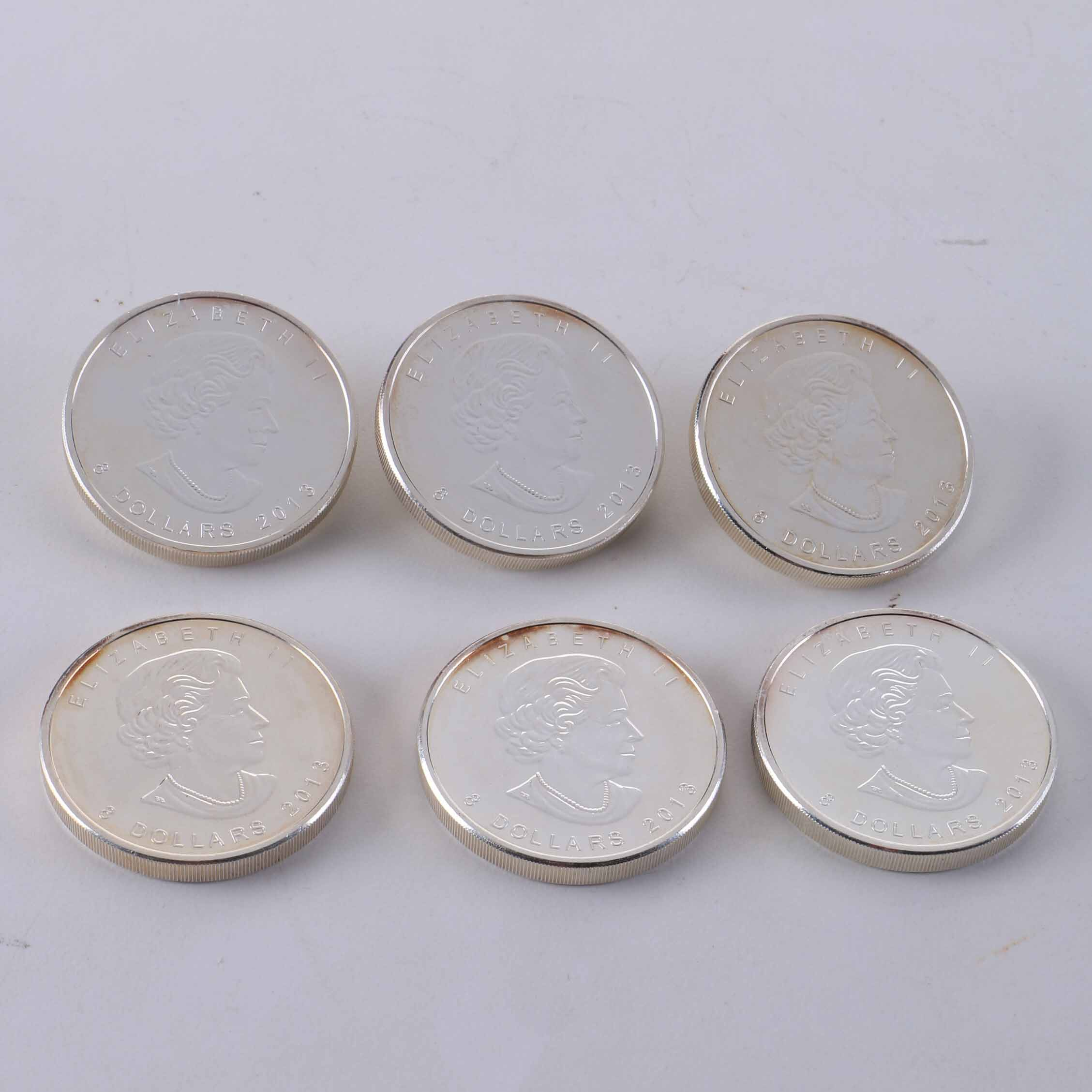 Collection of 2013 Silver Canadian Eight Dollar Coins