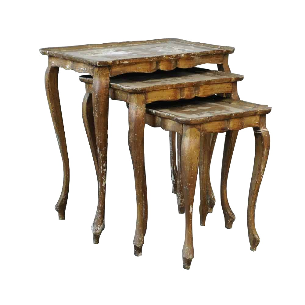 Exceptionnel Vintage Italian Florentine Nesting Tables ...