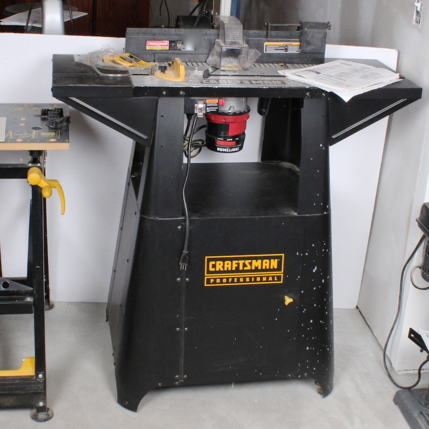 craftsman router and professional stand : ebth